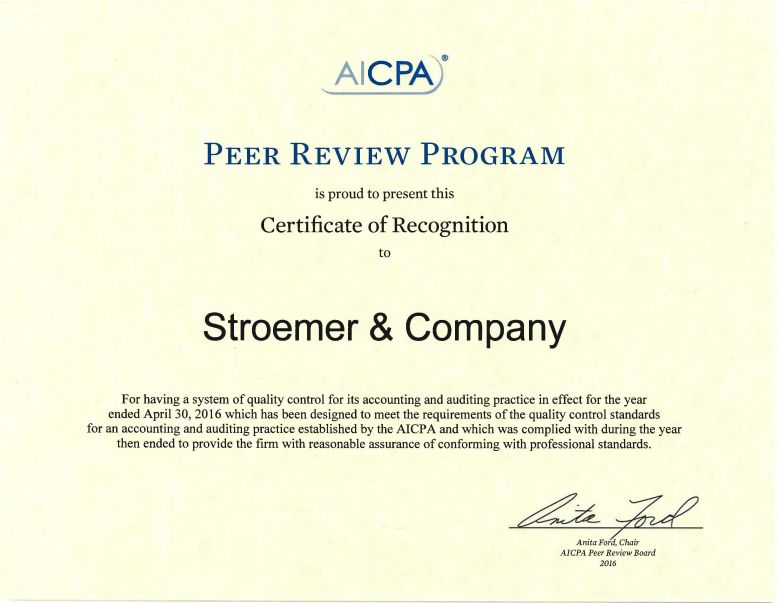 Fort Myers, FL CPA / Stroemer & Company, PA